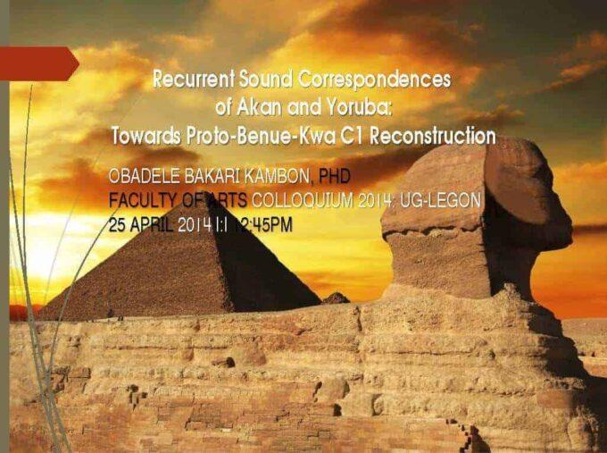 Recurrent Sound Correspondences of Akan and Yoruba [Video + Presentation Slides]