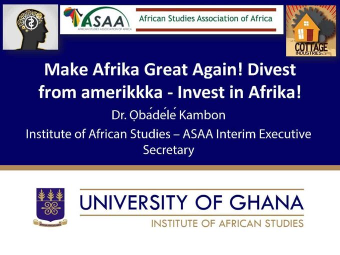 Make Afrika Great Again! Divest from amerikkka - Invest in Afrika!