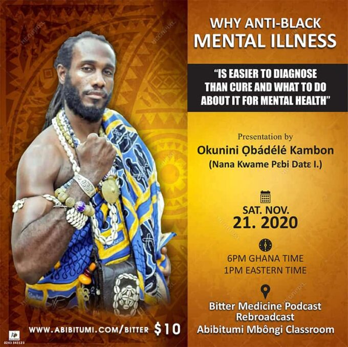 """[Video+Slide Bundle] Why Anti-Black Mental Illness """"Is Easier to Diagnose Than Cure and What To Do About It For Mental Health"""""""